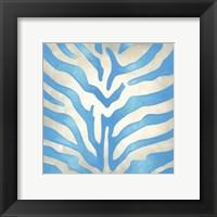 Vibrant Zebra II Framed Print