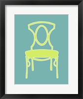 Graphic Chair I Framed Print