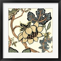 Jacobean Tile IV Framed Print