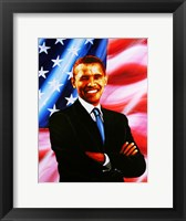 Framed Barack Obama - painting