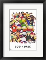 Framed South Park - style A