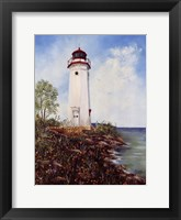 Cheboygan Crib Light Framed Print
