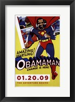 Framed Barack Obama - Obamaman