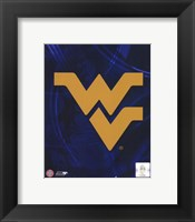 Framed West Virginia University Mountaineers Team Logo