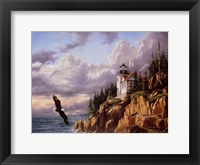 Framed Bass Harbor Head Lighthouse