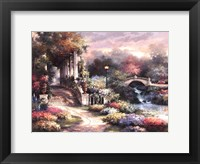 Classic Garden Retreat Framed Print