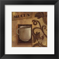 Deco Coffee II Mocha Framed Print