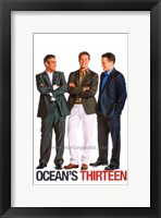 Framed Ocean's Thirteen (Clooney, Pitt, Damon)