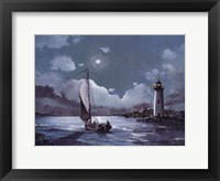 Framed Moonlit Sail