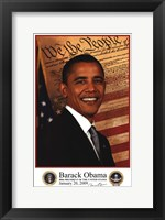 Framed Barack Obama - Inauguration 2009 With Presidential Seals