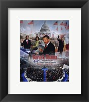 Framed 2009 Barack Obama Inaugural Portrait Plus