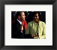 Framed 2009 Barack Obama Inaugural Address With Michelle Obama