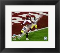 Framed James Harrison Interception - Super Bowl XLIII - #4