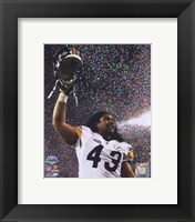 Framed Troy Polamalu celebrates - Super Bowl XLIII - #10