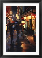 Night Lanterns Framed Print