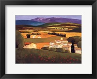 Village au Printemps Framed Print