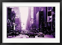 Framed Manhattan - purple street view