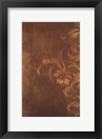 Bronze Flourish I Framed Print