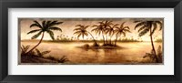 Golden Tropics I Framed Print