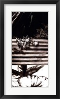 Black & White Leaves I Framed Print