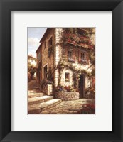 Afternoon Sun on the Steps Framed Print