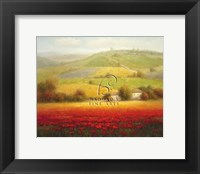 Framed Fields of Red and Gold II