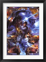 Framed Star Wars Saga - Collage