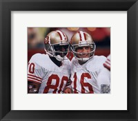 Framed Jerry Rice / Joe Montana - Group Shot  (#1)