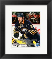 Framed Paul Gaustad 2008-09 3rd Jersey