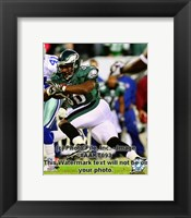 Framed Brian Westbrook 2008 Action