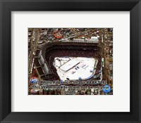 Framed Wrigley Field bird eye 2008-09 NHL Winter Classic