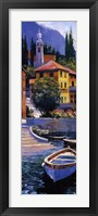 Framed Lake Como Crossing Panel I