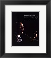 Change (Black) Framed Print