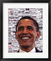 Obama - Headlines Framed Print