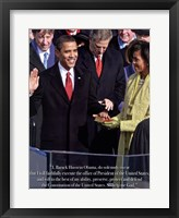 Obama - Inauguration Framed Print