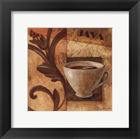 Deco Coffee III Java Framed Print