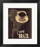 Framed Cafe Brazil II