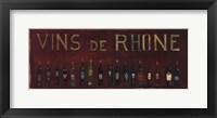 Framed Vins de Rhone