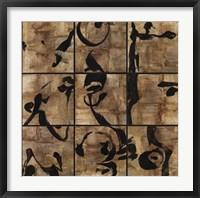 Framed Gilded Zen Nine Up