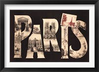 Framed Postcard from Paris