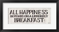 Leisurely Breakfast Framed Print
