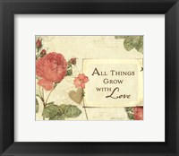Floral Inspiration I Framed Print