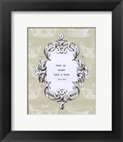 When in Doubt Framed Print