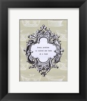 Problem Solved Framed Print