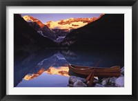 Framed Canoe On Lake Louise
