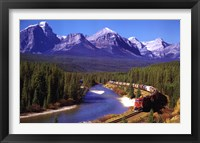 Framed Train In The Rockies