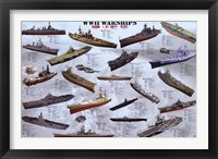 Framed World War II War Ships