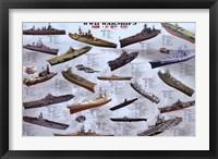 Framed World War II War Ships