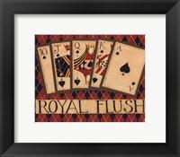 Framed Royal Flush