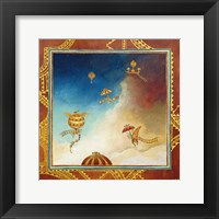 Framed Voyage en ballon - gold